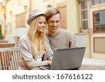 summer holidays  city  dating... | Shutterstock . vector #167616122