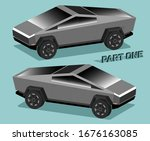 3d isometry futuristic electric ... | Shutterstock .eps vector #1676163085
