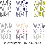 a set of phrases in english ...   Shutterstock .eps vector #1676167615
