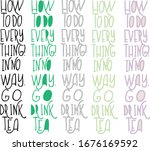 a set of phrases in english ...   Shutterstock .eps vector #1676169592