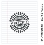 Wretched Pencil Draw. Vector...