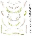vector laurel branches and... | Shutterstock .eps vector #167618126