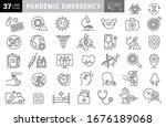 simple set of coronavirus... | Shutterstock .eps vector #1676189068