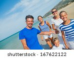 photo of happy family with... | Shutterstock . vector #167622122