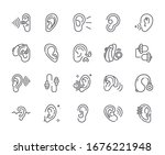 set of hearing aid related...   Shutterstock .eps vector #1676221948