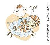 children's zodiac. the zodiac... | Shutterstock .eps vector #1676228248