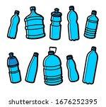 bottles water set. collection... | Shutterstock .eps vector #1676252395
