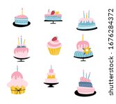 collection of different... | Shutterstock .eps vector #1676284372