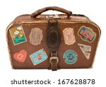 Travel Suitcase With Stickers....