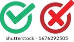 ok check and forbidden or no... | Shutterstock .eps vector #1676292505