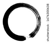 circle ink brush stroke ...   Shutterstock .eps vector #1676300638
