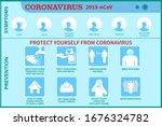 infographic of coronavirus 2019 ...   Shutterstock .eps vector #1676324782