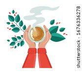 vector illustration drinking... | Shutterstock .eps vector #1676336278