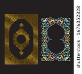 an antique quran cover design...   Shutterstock .eps vector #1676352328