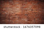Red Brick Pattern. Old Brick...