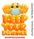 keep your distance when you... | Shutterstock .eps vector #1676362435