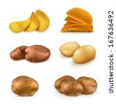 potatoes vector set | Shutterstock .eps vector #167636492