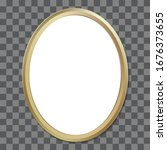 oval golden picture frame....   Shutterstock .eps vector #1676373655