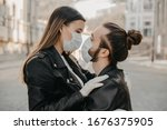 couple in love  man and woman... | Shutterstock . vector #1676375905