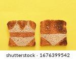 Abstract Crusty Bread Toast...
