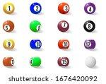 billiard  pool or snooker balls ... | Shutterstock .eps vector #1676420092