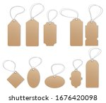 price tags  empty labels  sale... | Shutterstock .eps vector #1676420098