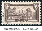 poland   circa 1961  stamp... | Shutterstock . vector #167643362