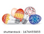 Easter Eggs And Easter Bulbs....