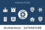 modern simple set of insignia... | Shutterstock .eps vector #1676465188