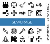 sewerage simple icons set....   Shutterstock .eps vector #1676465512