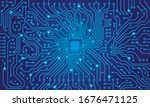 circuit board. blue abstract... | Shutterstock .eps vector #1676471125