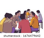illustration of group of people ... | Shutterstock .eps vector #1676479642