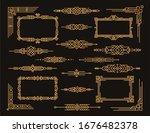 art deco frames and dividers ...   Shutterstock .eps vector #1676482378