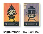 set of barbecue posters. bbq... | Shutterstock .eps vector #1676501152