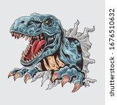 a tyrannosaurus dinosaur... | Shutterstock .eps vector #1676510632