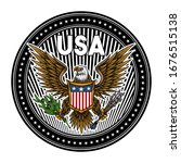 usa emblem. colorful vector... | Shutterstock .eps vector #1676515138
