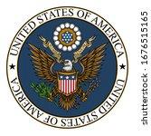 united states of america coat... | Shutterstock .eps vector #1676515165