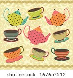 wonderful colorful pattern with ... | Shutterstock .eps vector #167652512