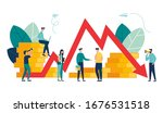 vector illustration  economic... | Shutterstock .eps vector #1676531518