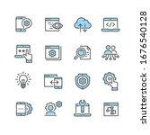 service tools vector icon set | Shutterstock .eps vector #1676540128