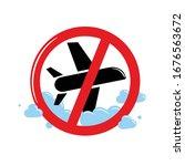 stop aviation. concept... | Shutterstock .eps vector #1676563672