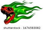 tyrannosaurus rex skull fossil...   Shutterstock .eps vector #1676583082