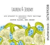 wedding card. vector file has... | Shutterstock .eps vector #167659208