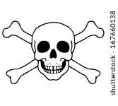 vector illustration with skull   Shutterstock .eps vector #167660138