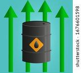 world oil price increase... | Shutterstock .eps vector #1676601598