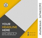 social media feed post... | Shutterstock .eps vector #1676622292