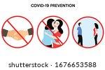 covid 19 prevention stop body...   Shutterstock .eps vector #1676653588