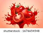 a powerful splash of fresh... | Shutterstock .eps vector #1676654548