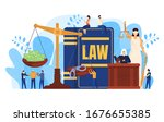 Law Concept  Judge And Lawyers...