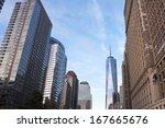 new york  usa   october 28 ... | Shutterstock . vector #167665676